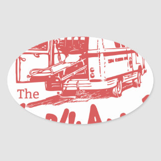 paramedic office oval sticker