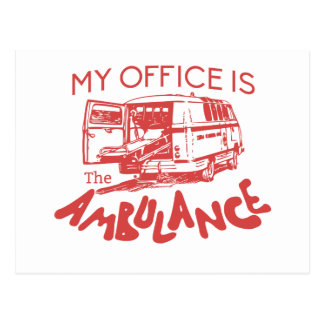 paramedic office postcard