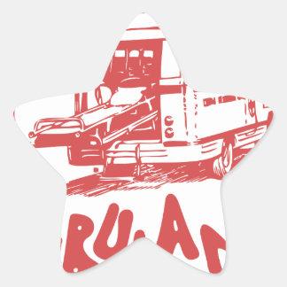 paramedic office star sticker