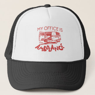 paramedic office trucker hat
