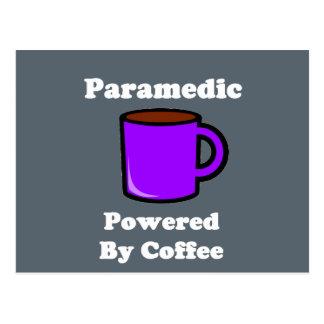 """Paramedic"" Powered by Coffee Postcard"