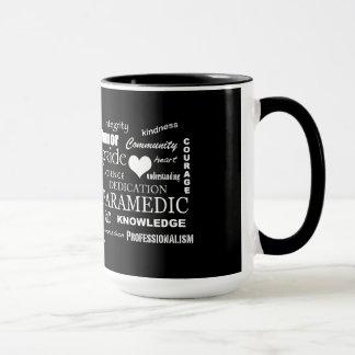 Paramedic Pride-White Heart/Text Design Mug