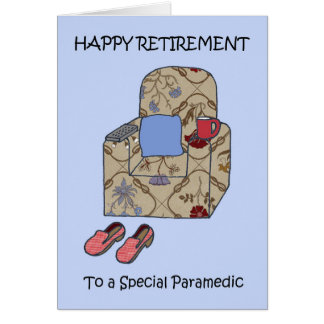 Paramedic Retirement Card