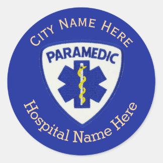 Paramedic Shield Custom Round Sticker