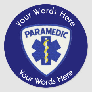 Paramedic Star Of Life Shield Round Sticker