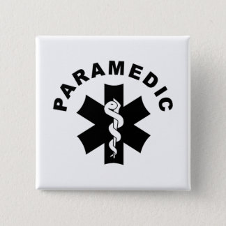 Paramedic Theme 2 Inch Square Button