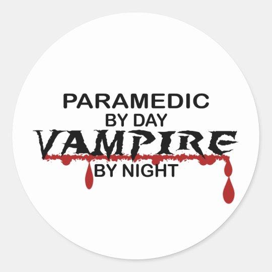 Paramedic Vampire by Night Classic Round Sticker