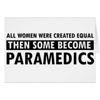 Paramedic Women's Design Card