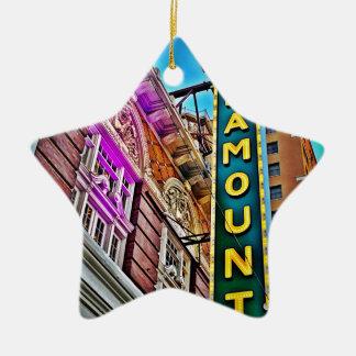 Paramount Theater Ceramic Star Ornament
