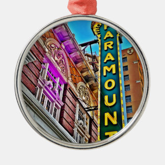 Paramount Theater Silver-Colored Round Ornament