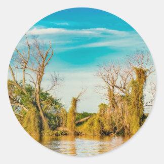 Parana River, San Nicolas, Argentina Classic Round Sticker