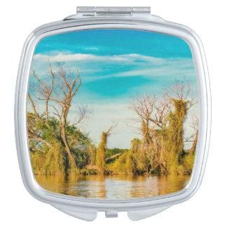 Parana River, San Nicolas, Argentina Compact Mirror