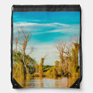 Parana River, San Nicolas, Argentina Drawstring Bag