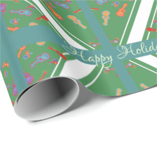 Parang Party (grn2_wht_bkgd) Wrapping Paper
