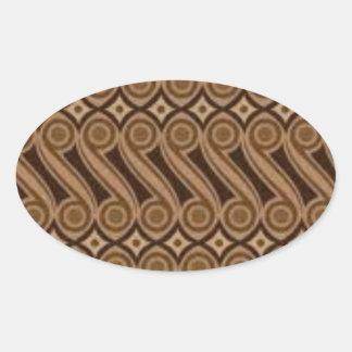 Parang's Batik Oval Sticker