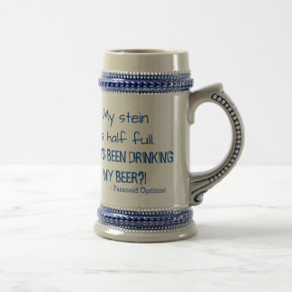 Paranoid Optimist Beer Stein