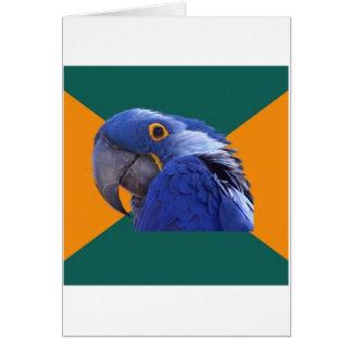 Paranoid Parrot Bird Advice Animal Meme Greeting Card