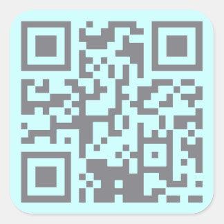 Paranormal Investigator Bar Code Square Sticker