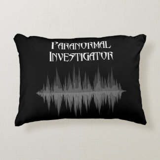 Paranormal Investigator Soundwave throw pillow