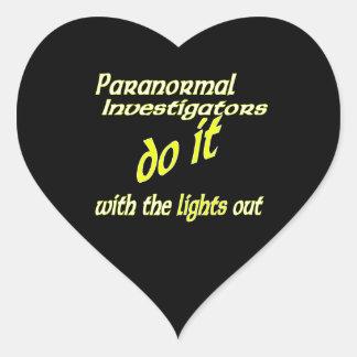 Paranormal Investigators Do It Heart Sticker