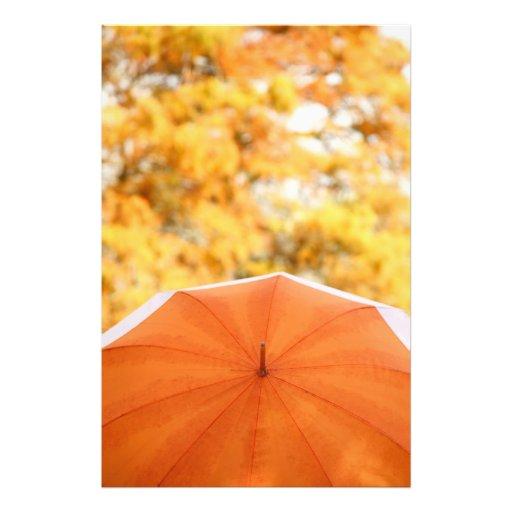 Parapluie et couleurs d'automne photo sur toile