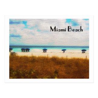 Parapluies de Miami Beach Cartes Postales