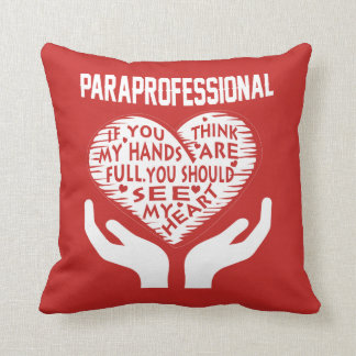 Paraprofessional Throw Pillow