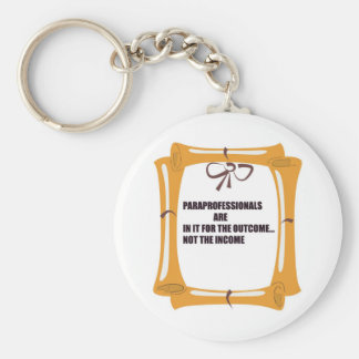 PARAS ARE IN IT FOR THE OUTCOME KEYCHAIN