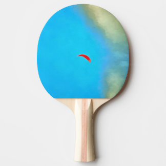Parasailig high in the sky ping pong paddle