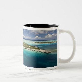 Parasailing over the beautiful lagoon of Bora 3 Two-Tone Mug