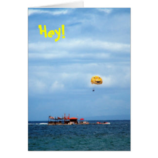 Parasailing Wahikuli Beach Park, Hey, Hello Card
