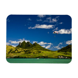 Parasailing within View of impressive Lion Rectangular Photo Magnet