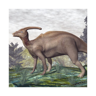 Parasaurolophus dinosaur - 3D render Canvas Print