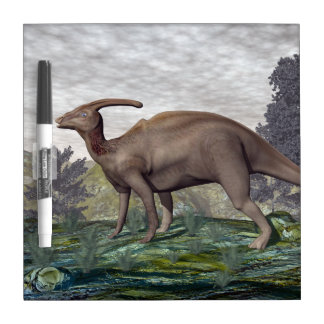 Parasaurolophus dinosaur - 3D render Dry Erase Board