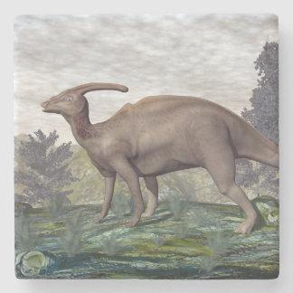 Parasaurolophus dinosaur - 3D render Stone Coaster