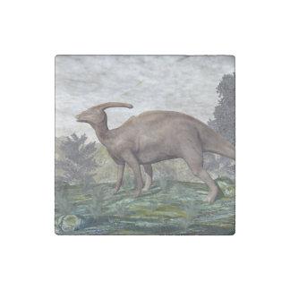 Parasaurolophus dinosaur - 3D render Stone Magnets