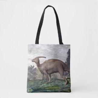 Parasaurolophus dinosaur - 3D render Tote Bag