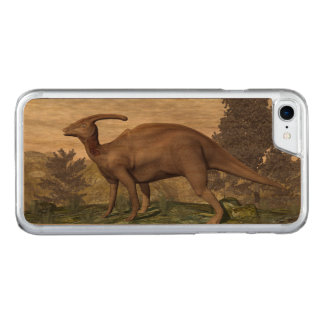 Parasaurolophus dinosaur among gingko trees carved iPhone 8/7 case