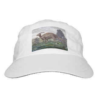 Parasaurolophus dinosaur among gingko trees hat
