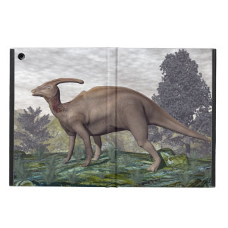 Parasaurolophus dinosaur among gingko trees iPad air case