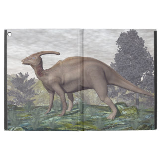"Parasaurolophus dinosaur among gingko trees iPad pro 12.9"" case"