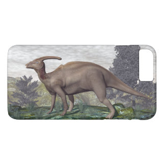 Parasaurolophus dinosaur among gingko trees iPhone 8 plus/7 plus case