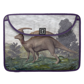 Parasaurolophus dinosaur among gingko trees sleeve for MacBook pro