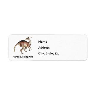 Parasaurolophus Custom Return Address Label