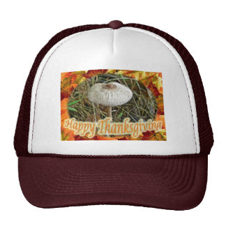 Parasol Mushroom Happy Thanksgiving Series Trucker Hat