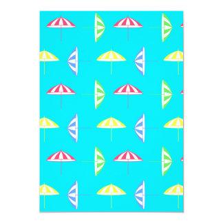 "Parasol pattern 5"" x 7"" invitation card"