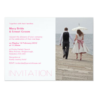 Parasol wedding invitation
