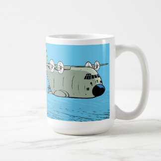 Paratrooper Hercules Plane Cartoon Coffee Mug