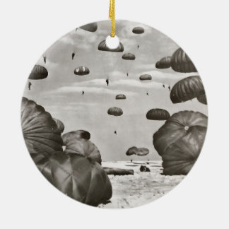 Paratrooper Landing Ceramic Ornament