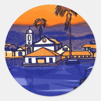 Paraty - Rio De Janeiro - Brazil Classic Round Sticker